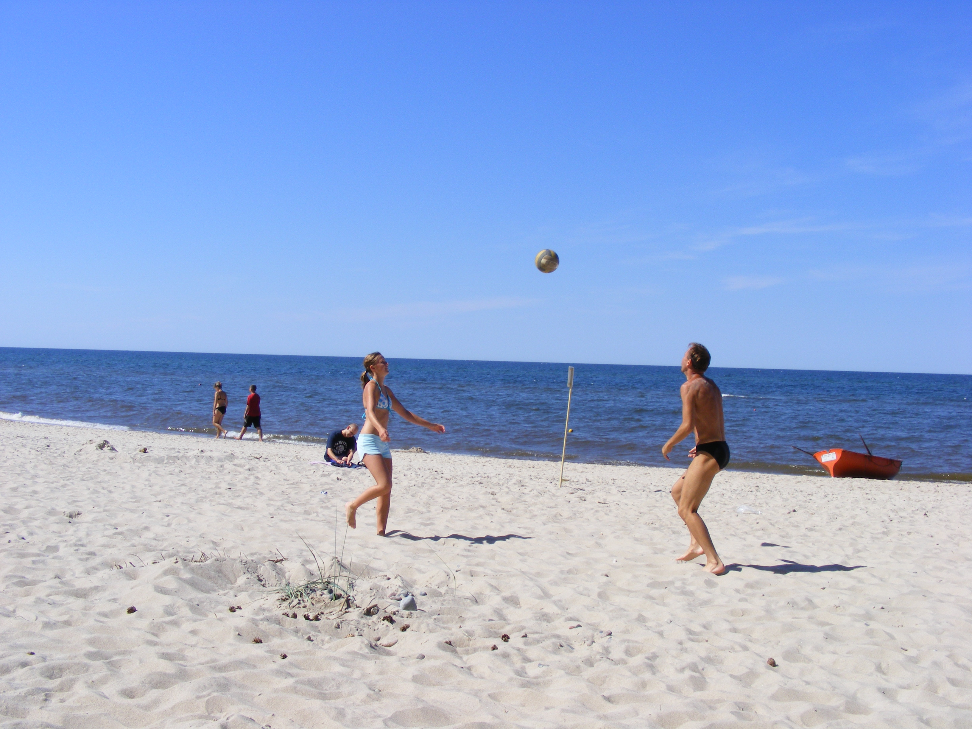 Volleyball-am-Ostseestrand